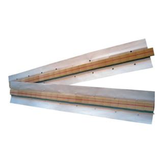 Keramische Badsicherung 25,4x6,3x6,3x1,6mm Halbrundnut L.600mm auf Alu-Klebeband
