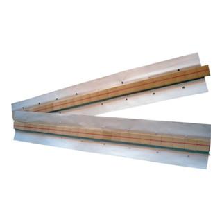 Keramische Badsicherung 31,7x17,5x9,5x1,6mm Halbrundnut L.600mm auf Alu-Klebeb.