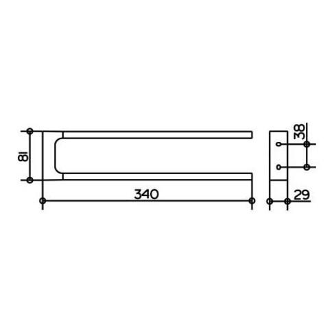 Keuco Handtuchhalter EDITION 11 2-teilig Ausladung 340 mm verchromt