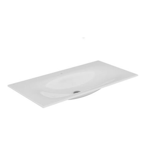 Keuco Keramik-Waschtisch EDITION 11 für 1-Loch Armaturen geeignet 1055 x 17 x 538 mm weiß
