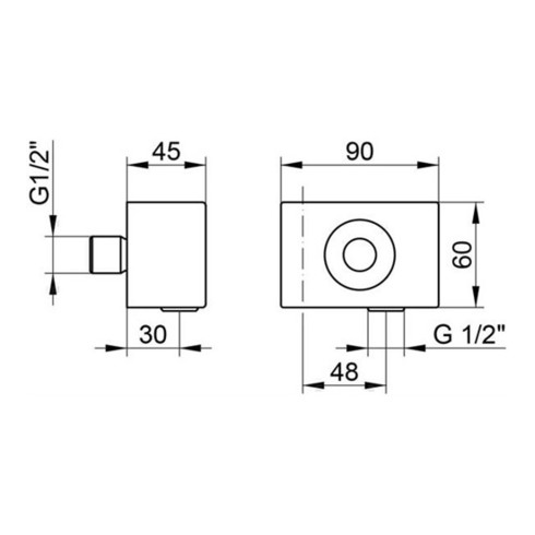 Keuco Schlauchanschluss EDITION 11 DN 15, mit Wandbrausehalter verchromt