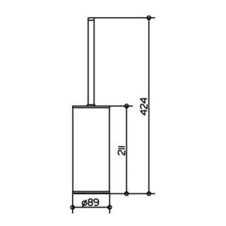 Keuco Toilettenbürstengarnitur MOLL Standmodell verchromt/weiß