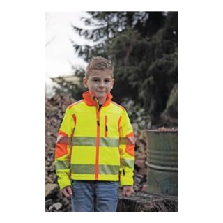 Kinder-Warnschutzsoftshelljacke Gr.128 gelb/orange 100% PES 1 St.Terrax