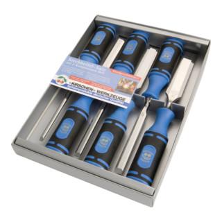 Kirschen Stechbeitelsatz mit 2-K Heft im SB-Karton 6-10-12-16-20-26 mm