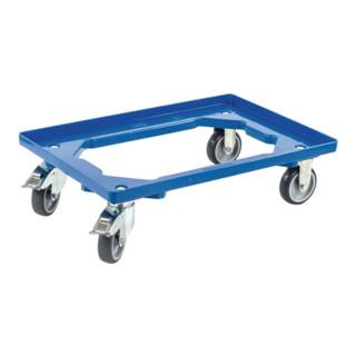 Kistenroller Trgf.250kg Gummi-Bereifung L605xB405mm Ku.blau