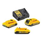 Kit batterie DeWalt (3 x 18 V / 2 Ah plus DCB 115) DCB115D3-QW