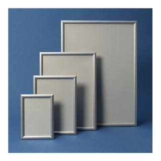 Klapprahmen Format DIN A2 24mm Klemmprofil Alu. silberfarbig elox.