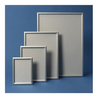 Klapprahmen Format DIN A3 24mm Klemmprofil Alu. silberfarbig elox.