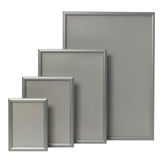 Klapprahmen Format DIN A4 32mm Klemmprofil Alu. silberfarbig elox.