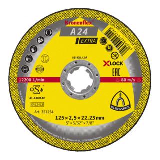 Klingspor A 24 EX Trennscheiben X-LOCK, 125 x 2,5 x 22,23 mm gerade