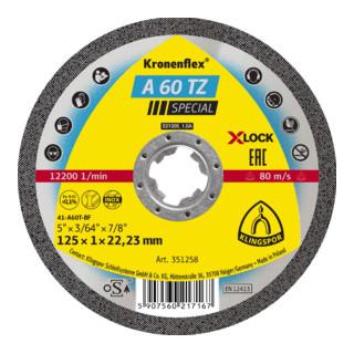 Klingspor A 60 TZ Trennscheiben X-LOCK, 125 x 1 x 22,23 mm gerade