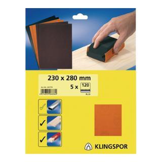 Klingspor Bogen / Streifen SB-Verpackt PL 31 B, LxB 230X280, Korn 120