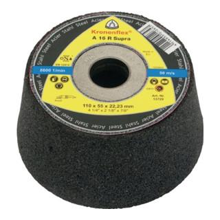 Klingspor C 30 R Schleiftopf, 110 x 55 x 22,23 mm gekröpft