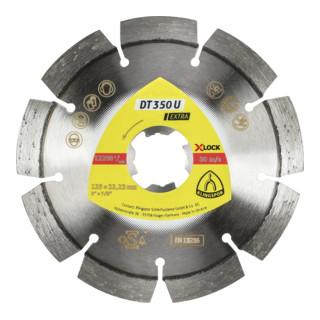 Klingspor DT 350 U Diamanttrennscheiben X-LOCK, 125 x 2,4 x 22,23 mm 9 Segmente 33 x 2,4 x 10 mm, Standardverzahnung