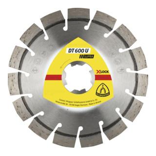 Klingspor DT 600 U Diamanttrennscheiben X-LOCK, 115 x 2,4 x 22,23 mm 13 Segmente 20 x 2,4 x 9 mm, Kurzverzahnung