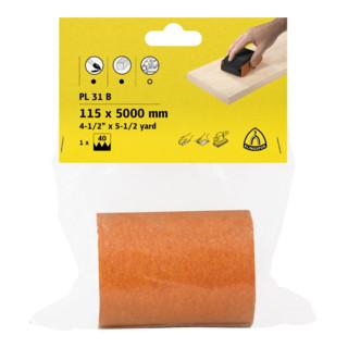 Klingspor Rolle Schleifpapier PL 31 B, LxB 115X5000