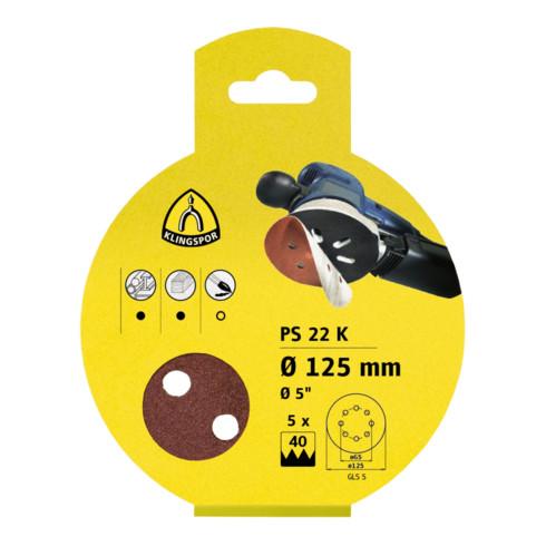 Klingspor Scheibe / kletthaftend PS 22 K, L 150 GLS3