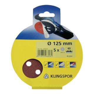 Klingspor Scheibe / kletthaftend SB-Verpackt PS 22 K, L 125, Korn 40