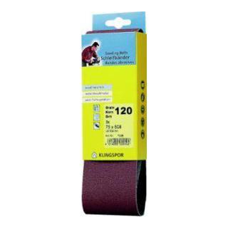 Klingspor Schleifband für Handbandschleifer LS 309 XH, LxB 75X533 F5