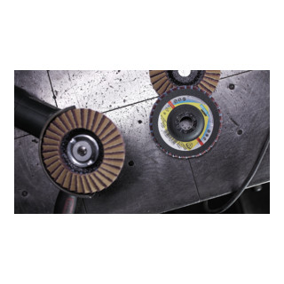 Klingspor SMT 850 Schleifmopteller Kombination, 125 x 22,23 mm Korn 80 Medium gewölbt