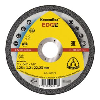 Klingspor Trennscheibe EDGE, 125 x 1,2 x 22,23 mm gerade