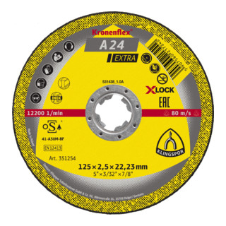 Klingspor Trennscheibe X-LOCK A 24 EX, 115 x 2,5 x 22,23 mm gerade