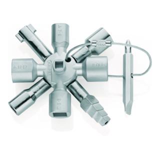 KNIPEX 00 11 01 TwinKey® für gängige Schränke und Absperrsysteme 92 mm