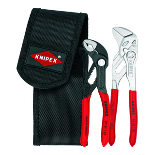 KNIPEX 00 20 72 V01 Mini-Zangenset in Werkzeuggürteltasche 2-teilig 195 mm