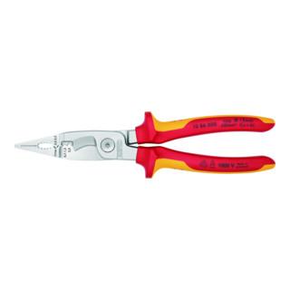 KNIPEX 13 86 200 Elektro-Installationszange verchromt VDE 200 mm