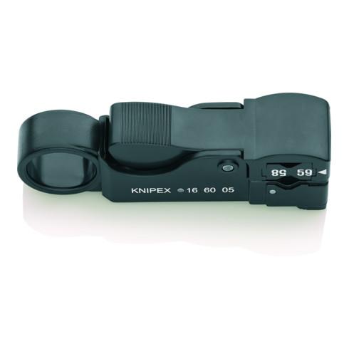 KNIPEX 16 60 05 SB Abisolierwerkzeug für Koaxialkabel 105 mm