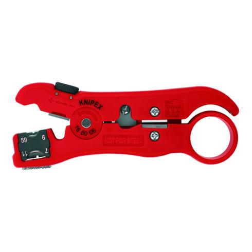 KNIPEX 16 60 06 SB Abisolierwerkzeug für Koaxial- und Datenkabel 125 mm