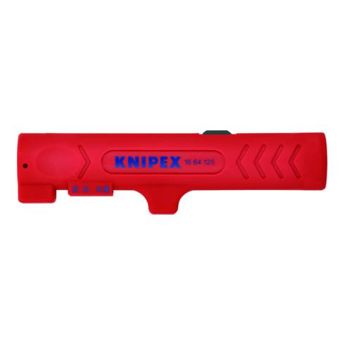 KNIPEX 16 64 125 SB Abmantelungswerkzeug für Flach- und Rundkabel 125 mm