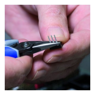 KNIPEX 34 22 130 Präzisions-Elektronik-Greifzange brüniert 135 mm