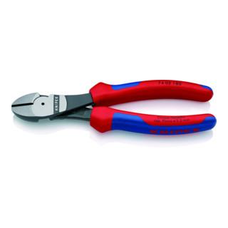 KNIPEX 74 02 180 Kraft-Seitenschneider schwarz atramentiert 180 mm