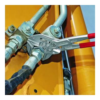 KNIPEX 86 03 400 Zangenschlüssel XL Zange und Schraubenschlüssel in einem Werkzeug verchromt 400 mm