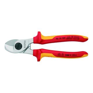 KNIPEX 95 16 165 Kabelschere verchromt VDE 165 mm