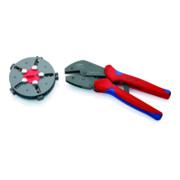 KNIPEX 97 33 02 MultiCrimp® Crimpzange mit Wechselmagazin brüniert 250 mm