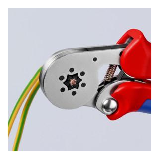 KNIPEX 97 55 14 Selbsteinstellende Crimpzange für Aderendhülsen mit Seiteneinführung mit Mehrkomponenten-Hüllen verchromt 180 mm