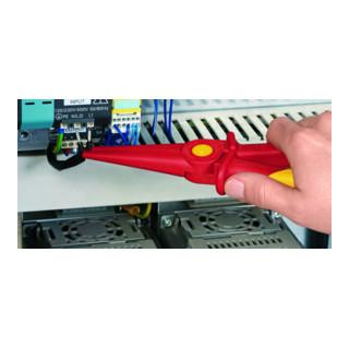 KNIPEX 98 62 02 Flachrundzange aus Kunststoff isolierend VDE 220 mm