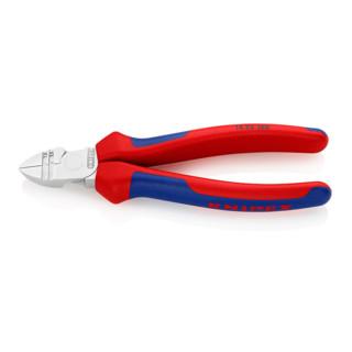 Knipex Abisolier-Seitenschneider verchromt mit Mehrkomponenten-Hüllen 160 mm
