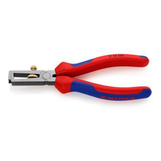 Knipex Abisolierzange schwarz atramentiert mit Mehrkomponenten-Hüllen 160mm
