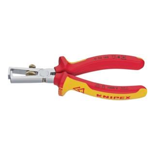 Knipex Abisolierzange verchromt isoliert mit Mehrkomponenten-Hüllen 160mm VDE-geprüft
