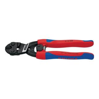Knipex Bolzenschneider CoBolt® schwarz atramnetiert mit schlanken Mehrkomponenten-Hüllen mit Öffnungsfeder 200mm