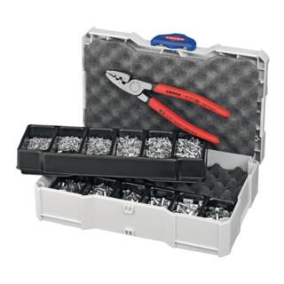 Knipex Crimp-Sortiment für Aderendhülsen 1401tlg. im Systainer ohne Kunststoffkragen