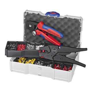 Knipex Crimp-Sortiment mit selbsteinstellbarer Abisolier- und Crimpzange 180mm für Aderendhülsen 1252tlg.