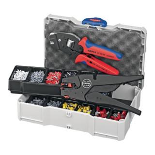 Knipex Crimp-Sortiment mit selbsteinstellbarer Abisolier- und Crimpzange 190mm für Aderendhülsen 1252tlg.