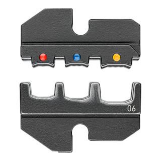 Knipex Crimpeinsatz für isolierte Kabelschuhe + Steckverbinder + Stoßverbinder