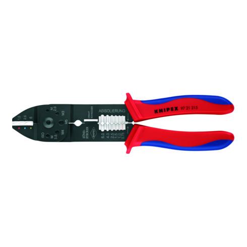 Knipex Crimpzange brüniert mit Mehrkomponenten-Hüllen 230mm Kapazität 0,75-6mm²