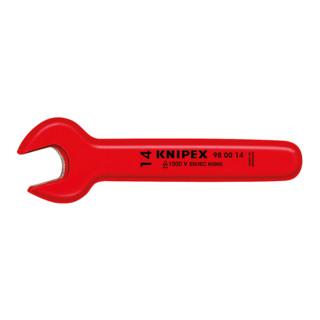 Knipex Einmaulschlüssel verchromt 1000V-isoliert SW.17mm L.155mm Winkel 15°