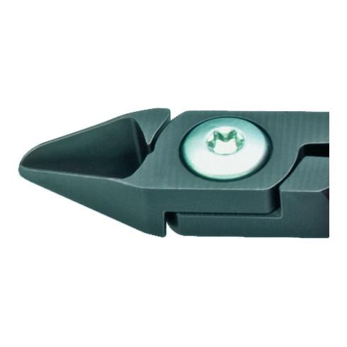 Knipex Elektronik-Seitenschneider brüniert mit Kunststoff-Hüllen Form 0 L.125mm